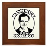 Romney is my homeboy Framed Tile