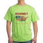 Romney for President Green T-Shirt