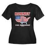 Romney for President Women's Plus Size Scoop Neck