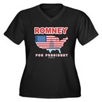 Romney for President Women's Plus Size V-Neck Dark