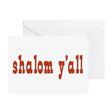 Greetings shalom y'all Greeting Card