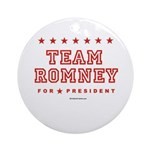 Team Romney Ornament (Round)