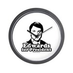 Edwards for President Wall Clock