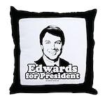 Edwards for President Throw Pillow