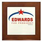 Edwards for President Framed Tile