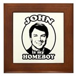 John is my Homeboy Framed Tile