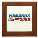 John Edwards 2008 Framed Tile