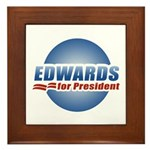 John Edwards for President Framed Tile