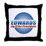 John Edwards for President Throw Pillow