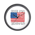 Vote for John Edwards Wall Clock