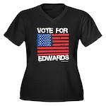 Vote for John Edwards Women's Plus Size V-Neck Dar