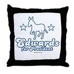 Edwards for Presiden Throw Pillow