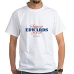 Support Edwards White T-Shirt