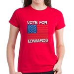 Vote for Edwards Women's Dark T-Shirt