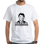 Edwards for President White T-Shirt