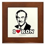 I Love Ron Paul Framed Tile
