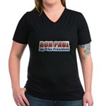 Ron Paul for President Women's V-Neck Dark T-Shirt