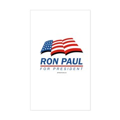 Ron Paul for President Rectangle Sticker