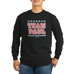 Team Paul Long Sleeve Dark T-Shirt