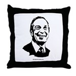 Mike Bloomberg Face Throw Pillow