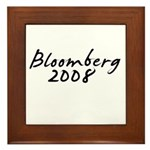 Bloomberg Autograph Framed Tile
