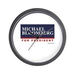 Michael Bloomberg for President Wall Clock