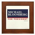 Michael Bloomberg for President Framed Tile