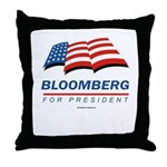 Bloomberg for President Throw Pillow