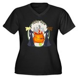 Abby Halloween Stew Women's Plus Size V-Neck Dark