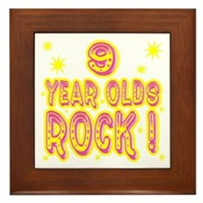 9 Year Olds Rock ! Framed Tile