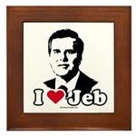 I Love Jeb Framed Tile