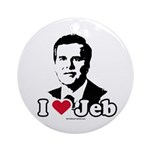I Love Jeb Ornament (Round)