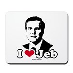 I Love Jeb Mousepad