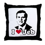 I Love Jeb Throw Pillow