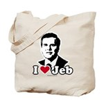 I Love Jeb Tote Bag