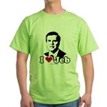 I Love Jeb Green T-Shirt