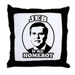 Jeb is my homeboy Throw Pillow