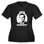 Jeb is my homeboy Women's Plus Size V-Neck Dark T-