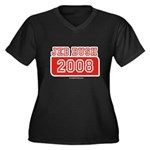 Jeb Bush 2008 Women's Plus Size V-Neck Dark T-Shir