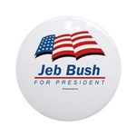 Jeb Bush for President Ornament (Round)