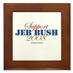Support Jeb Bush Framed Tile