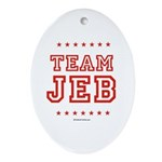 Team Jeb Oval Ornament