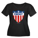 Cheney Women's Plus Size Scoop Neck Dark T-Shirt