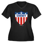 Cheney Women's Plus Size V-Neck Dark T-Shirt