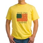 Vote for Cheney Yellow T-Shirt