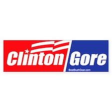 """Clinton Gore"" Bumper Car Sticker"