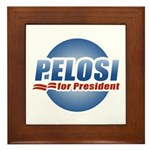 Pelosi for President Framed Tile