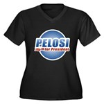 Pelosi for President Women's Plus Size V-Neck Dark