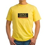 Nancy Pelosi for President Yellow T-Shirt