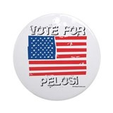 Vote for Pelosi Ornament (Round)